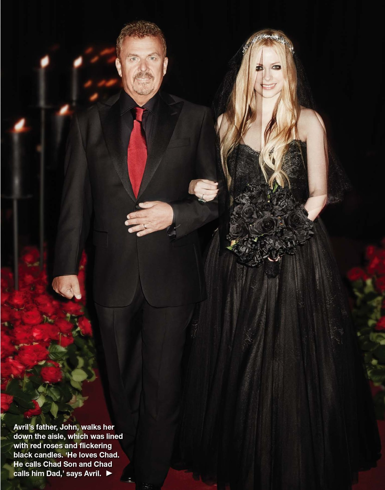 Black Wedding Avril And Her Father 1536 1956 Black Wedding Dresses Black Wedding Gowns Black Wedding