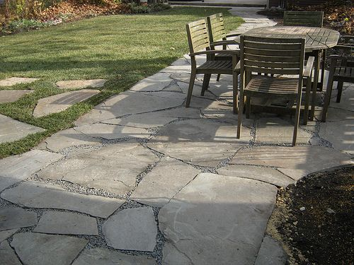Rock Patio Natural Blue Stone In Oak Park