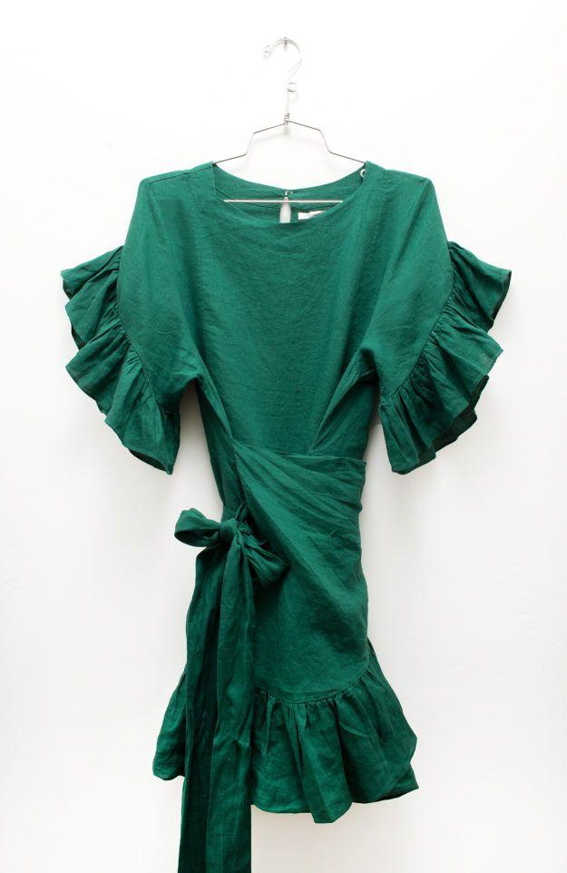 d19ad92e01d Isabel Marant Étoile Spring 2017 - Delicia Dress in Green
