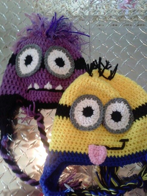 Pink zombie creations 10$ crocheted minion hat | TEJIDOS | Pinterest ...
