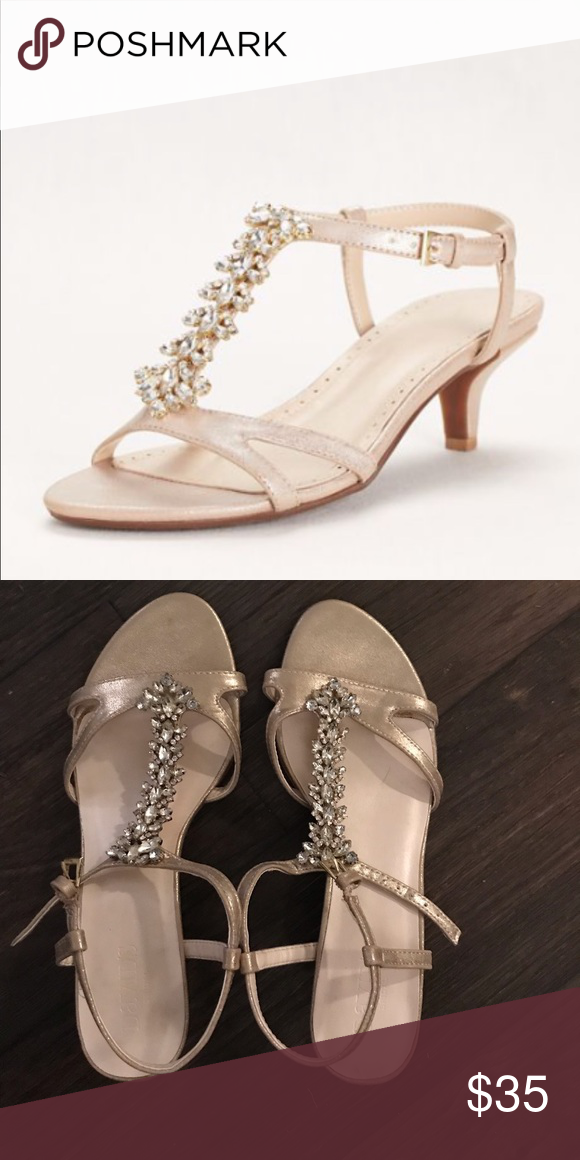multiple colors latest discount quality Crystal T-Strapped Love Heel Sandal Crystal beaded champagne ...
