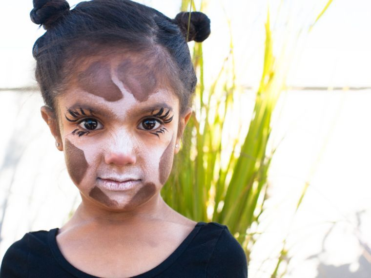 maquillage d\u0027enfant facile pour Halloween en animal