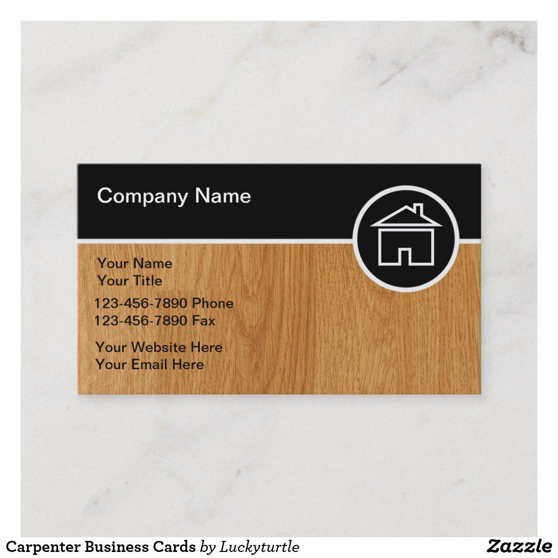 Carpenter Business Cards Zazzle Com Construction Business Cards Business Card Template Design Business Card Design Simple