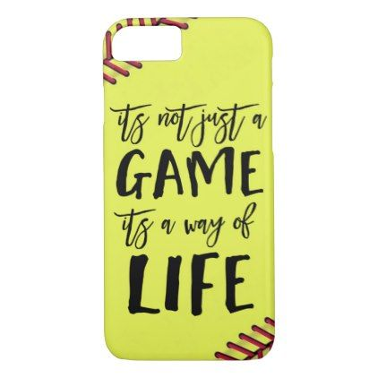 Softball Its Not Just A Game Quote Case Mate Iphone Case Zazzle Com In 2020 Softball Phone Cases Softball Quotes Volleyball Phone Cases