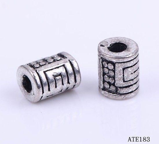 8x6mm Metal Charms Making Crafts Jewelry Findings Cylinder Maze
