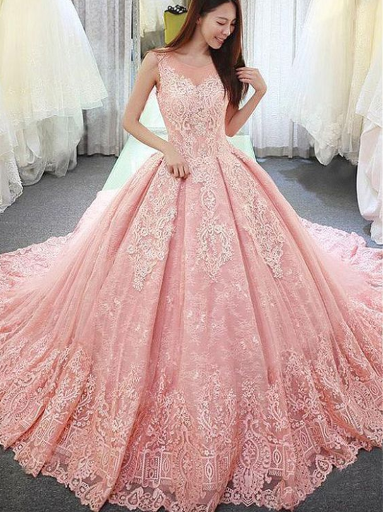00757a6353 Fantastic Tulle & Lace Jewel Neckline Ball Gown Wedding Dress With ...