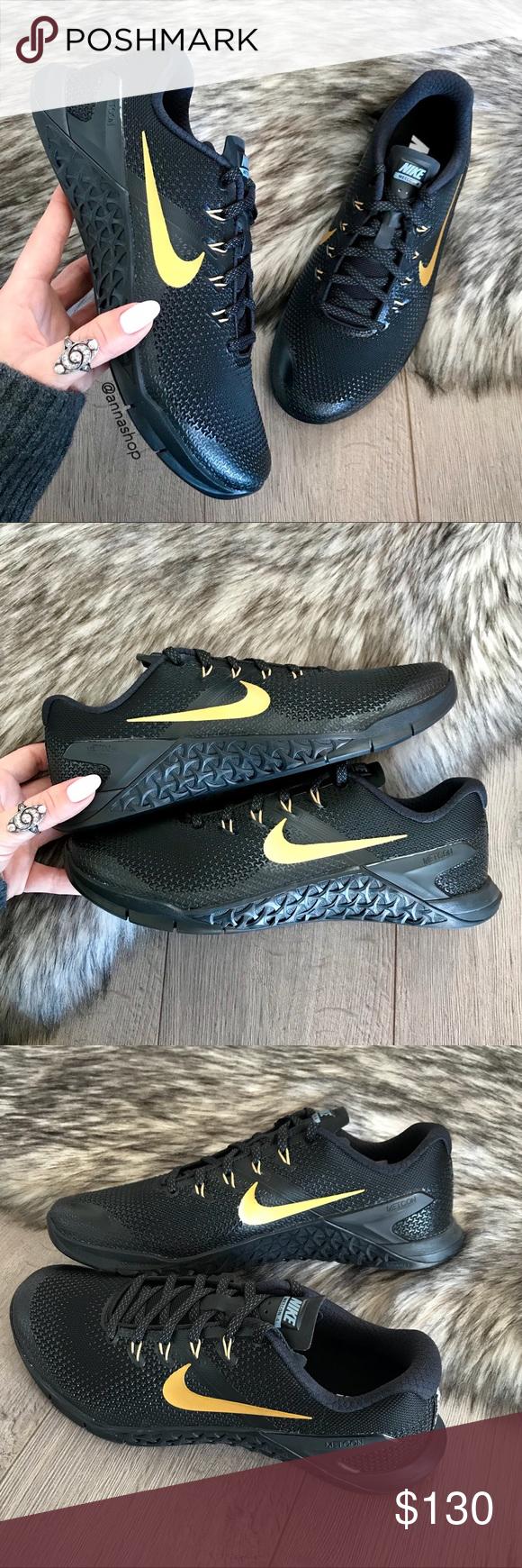 NWT Nike ID Metcon 4 Black/Gold | Black