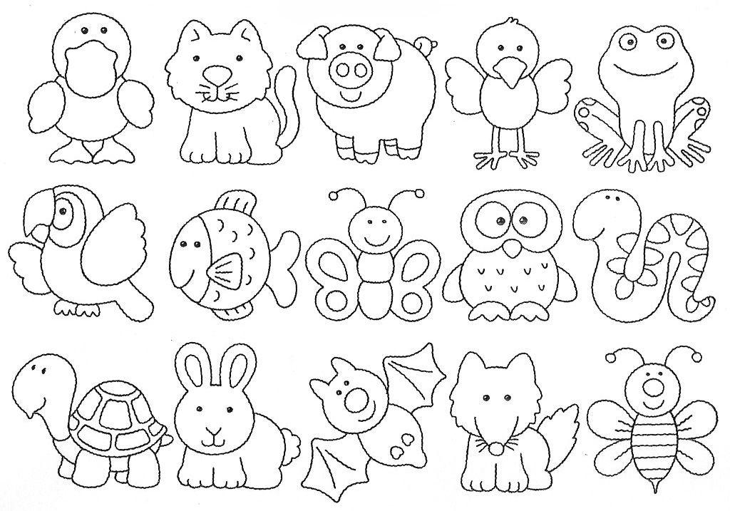 Educacao Infantil Cidada Desenhos De Animais Moldes De Animais
