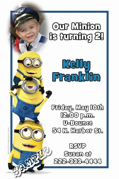 despicable me minions birthday party invitations get these