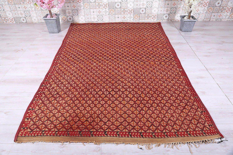 Berber Mat Hassira 6 2ft X 9 3ft Khemisset Rug Wool Straw Moroccan Moroccan Moroccan Interiors Berber