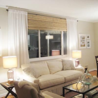 Picture Window Treatment Idea Picture Window Living Room Blinds Curtains With Blinds Living Room Windows