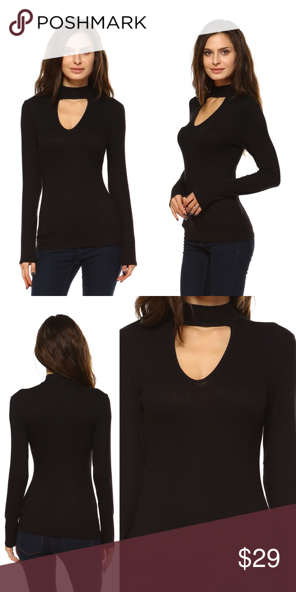 b70a4909fea61 Coming 11.18✌🏼 Great top for casual days or dress it up with a skirt. This  ribbed knit top comes complete with a keyhole + choker neckline to add a ...