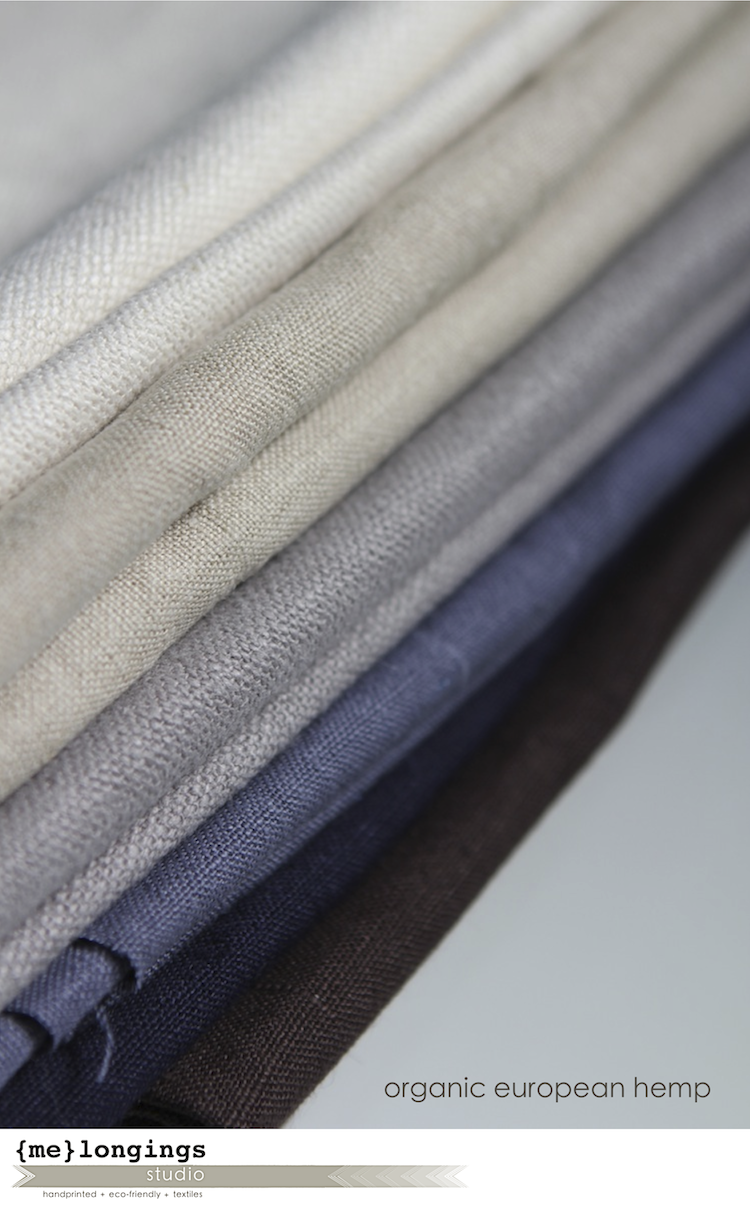 organic hemp fabric -the color palette from {me}longings ...
