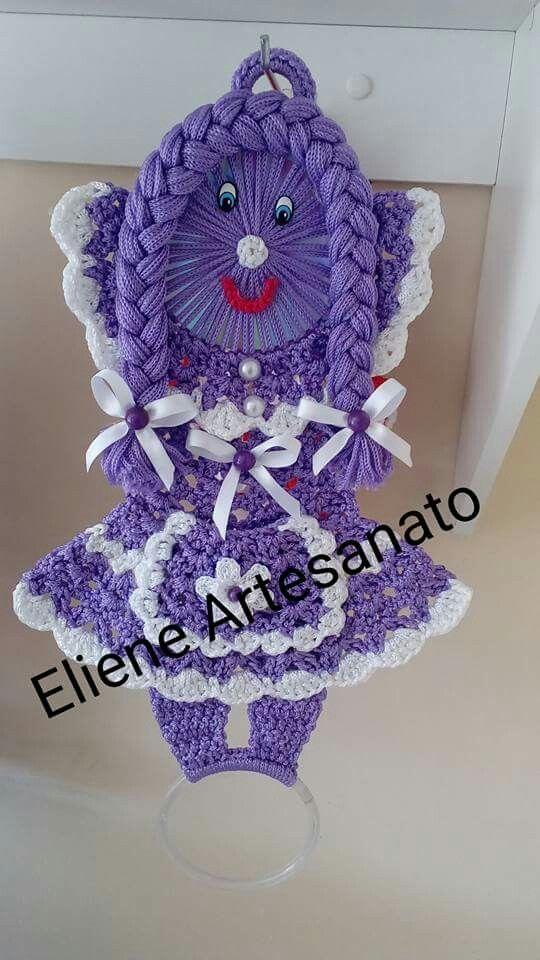 porta pano de prato bonequinha | tejidos | Pinterest | Ganchillo ...