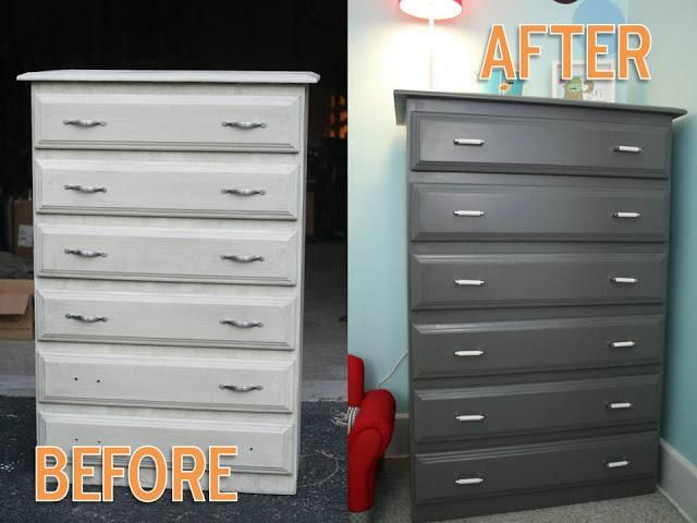 DIY Furniture : DIY Dresser Before  After