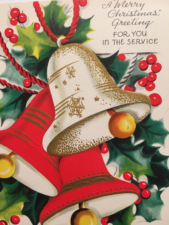 Vintage Christmas Card, Military, Service,NOS, Unused Card, Mid ...