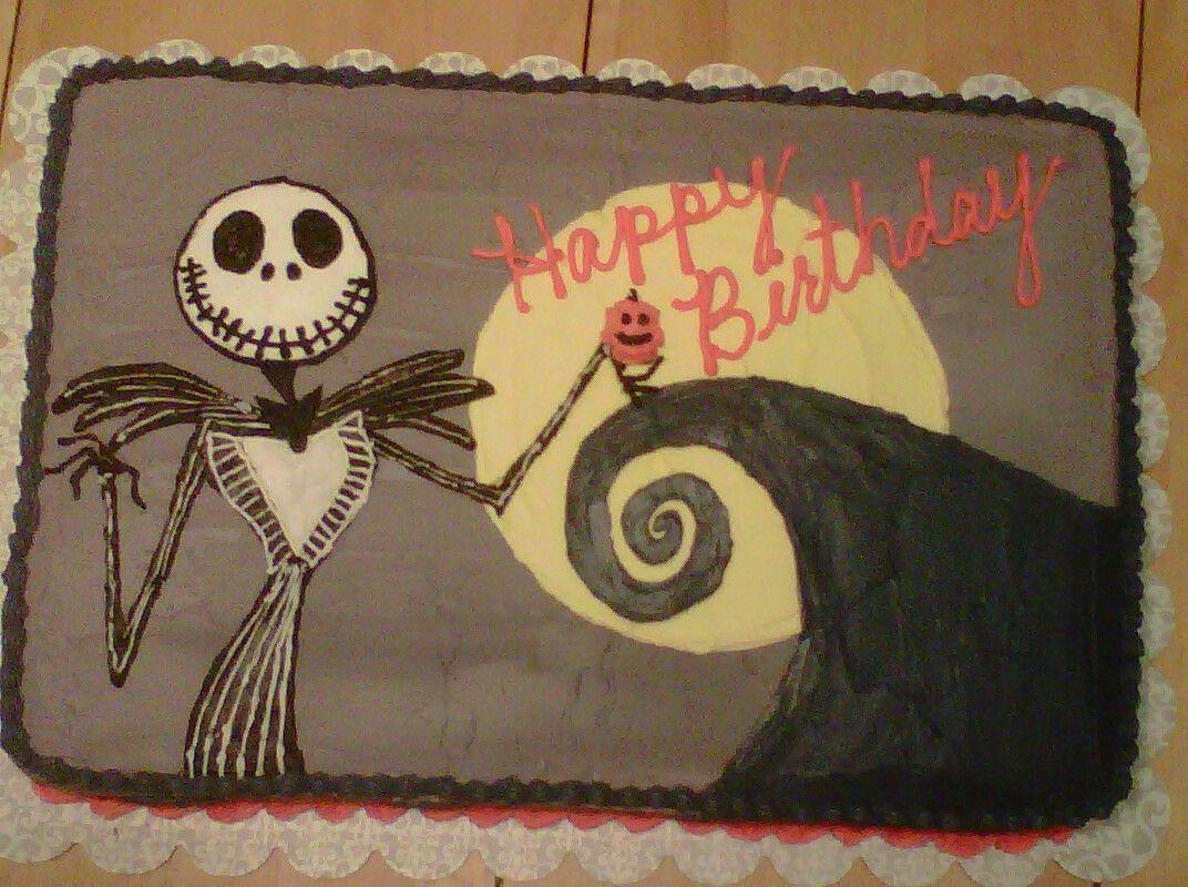Jack Skellington Birthday Cake My Cakes Pinterest Jack
