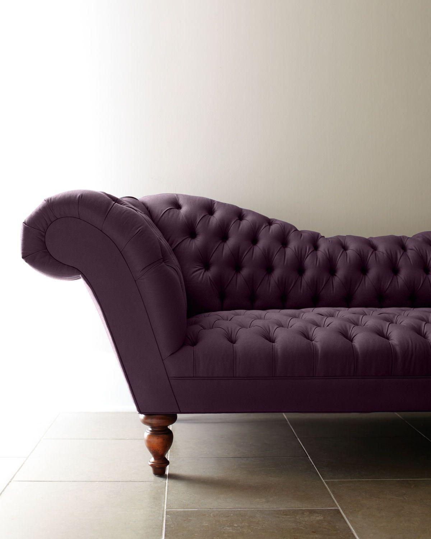 Old Hickory Tannery Ellsworth Recamier Sofa Furniture