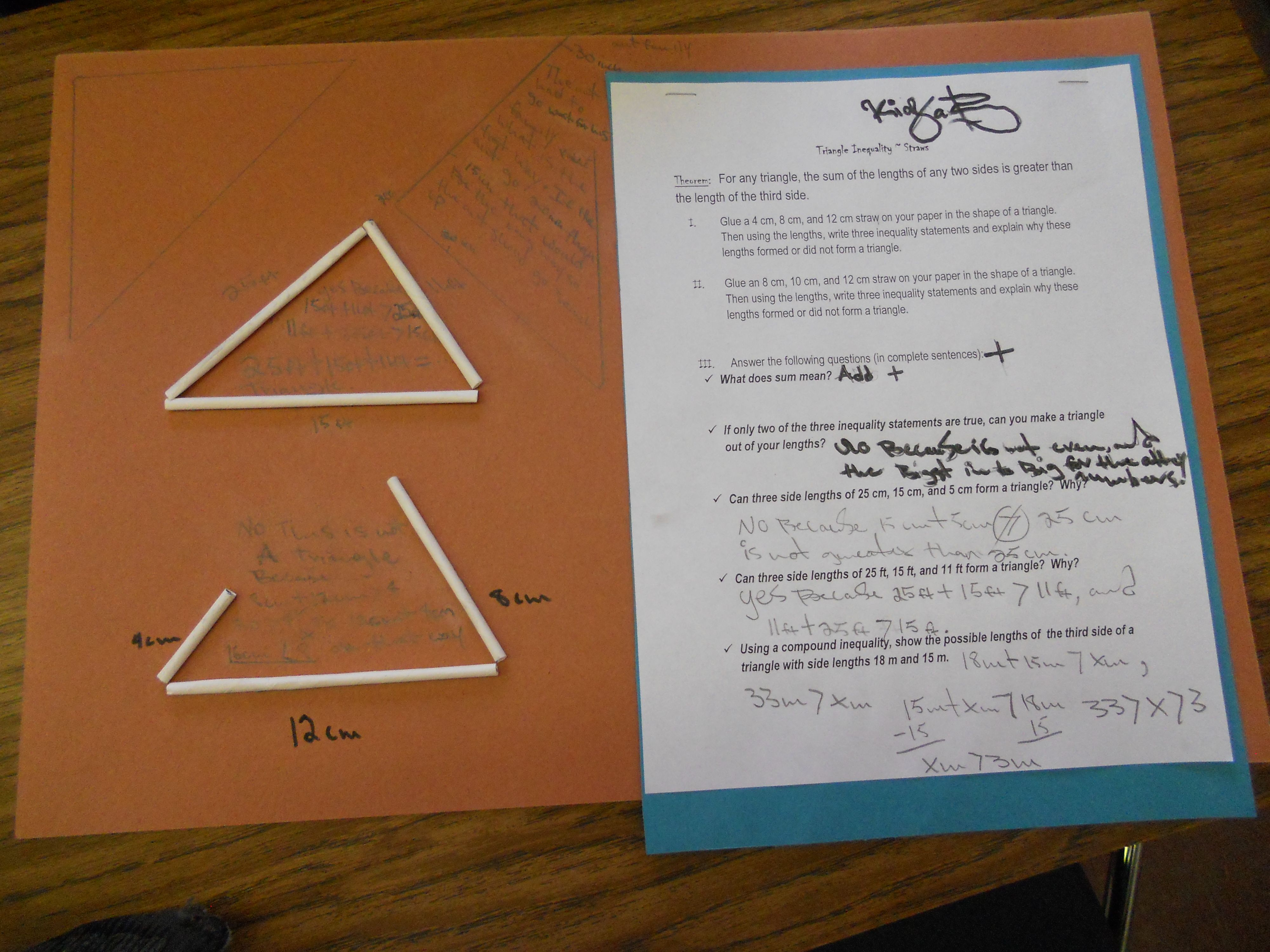 End Of The Year Review Of Triangle Inequality Theorem