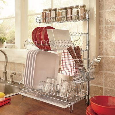 Dish Rack And Spice Rack For Small Spaces Minimalism Declutter