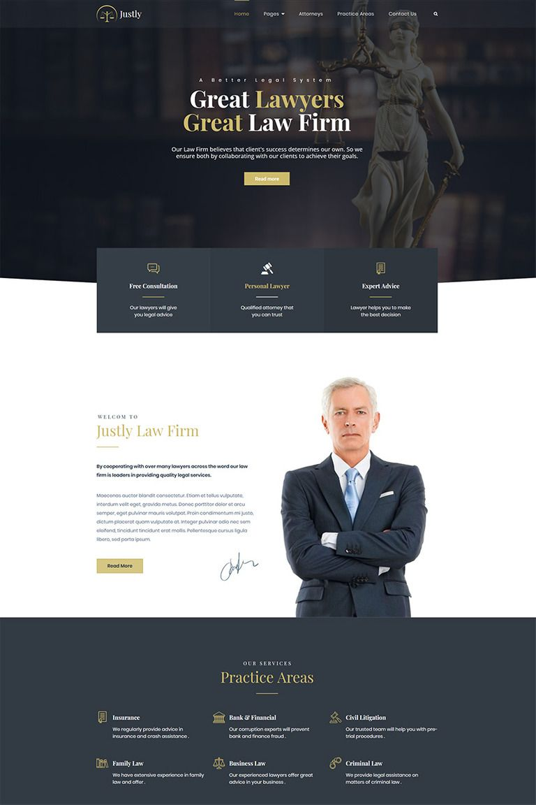 Justly Lawyer And Attorney Wordpress Theme 83482 Corporate