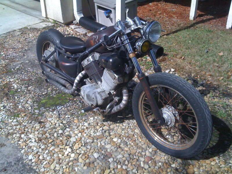 yamaha virago 535 bobber rat bike chopped yam 39 s bobber. Black Bedroom Furniture Sets. Home Design Ideas