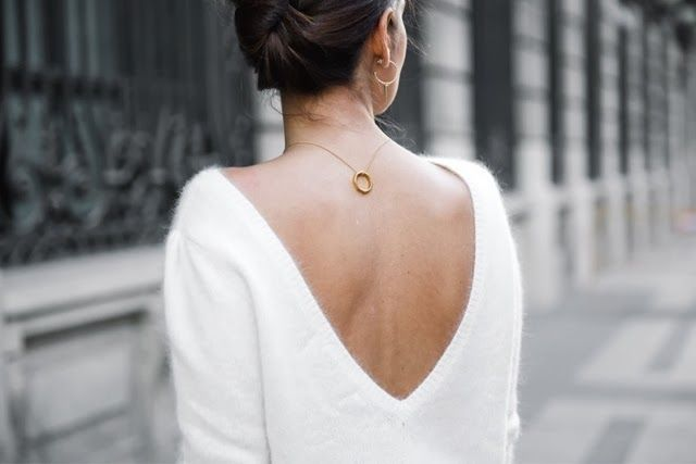 How to Chic: BACKLESS SWEATER