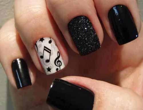 Music dark black nails art ideas nails nails nails and more music dark black nails art ideas prinsesfo Images
