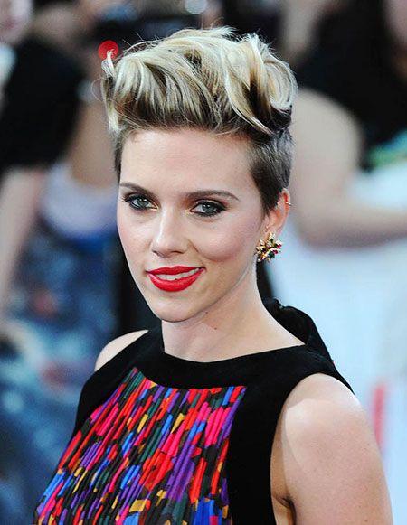 Short Hair Looks Scarlett Johansson Undercut Frau Kurz Haarschnitt Kurzhaarfrisuren