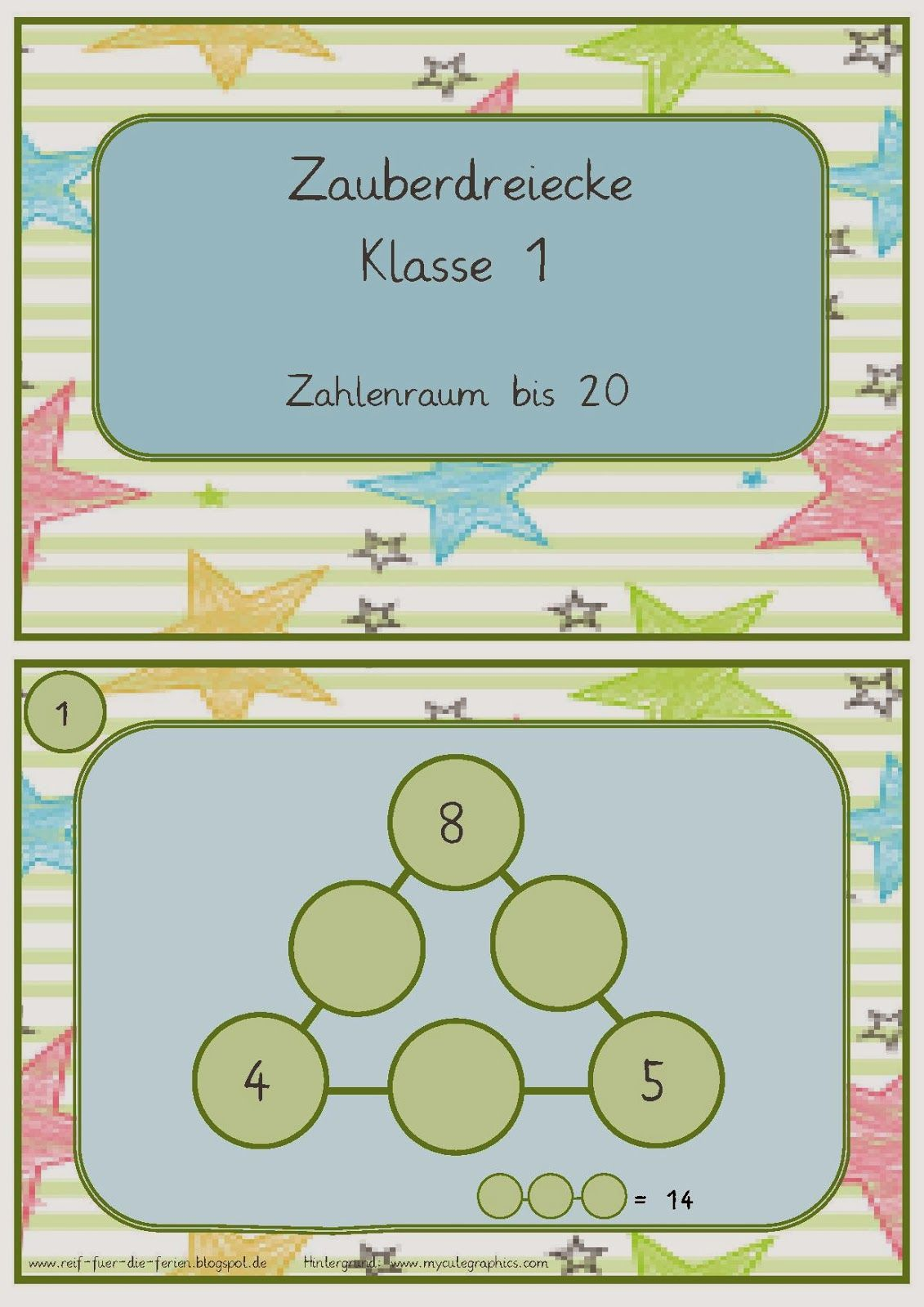 Zauberdreiecke bis 20   Matematika   Pinterest   School, Math and ...