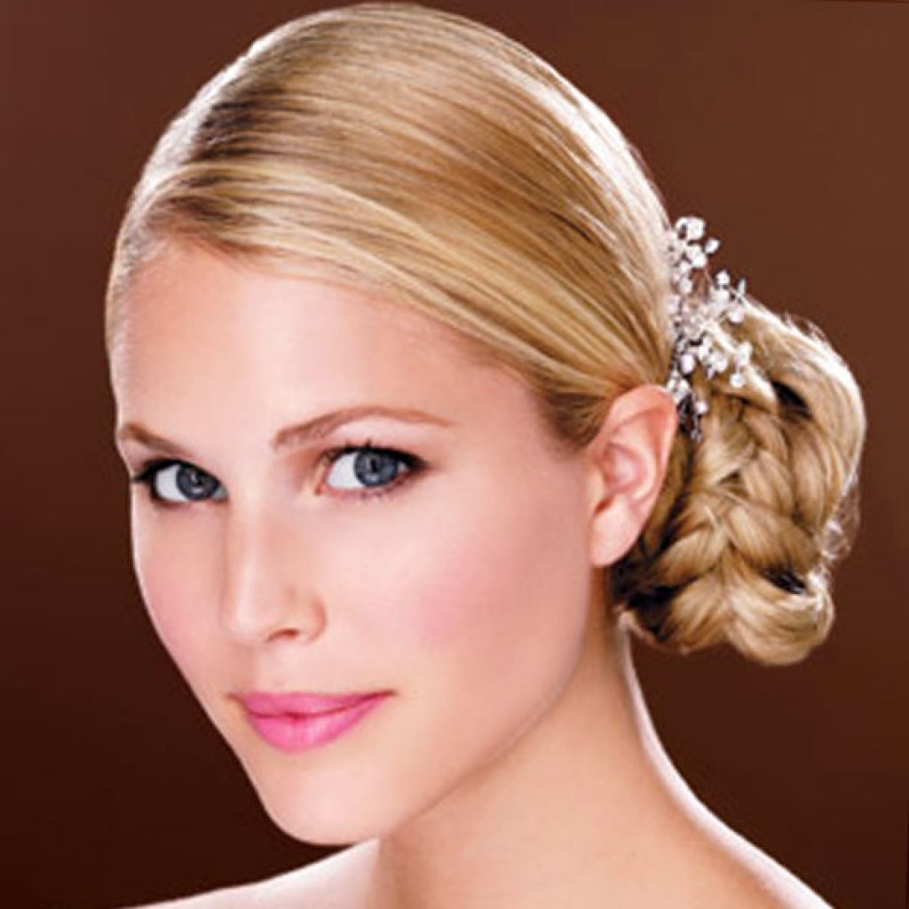 wedding side bun updos hairstyles with hair accessories