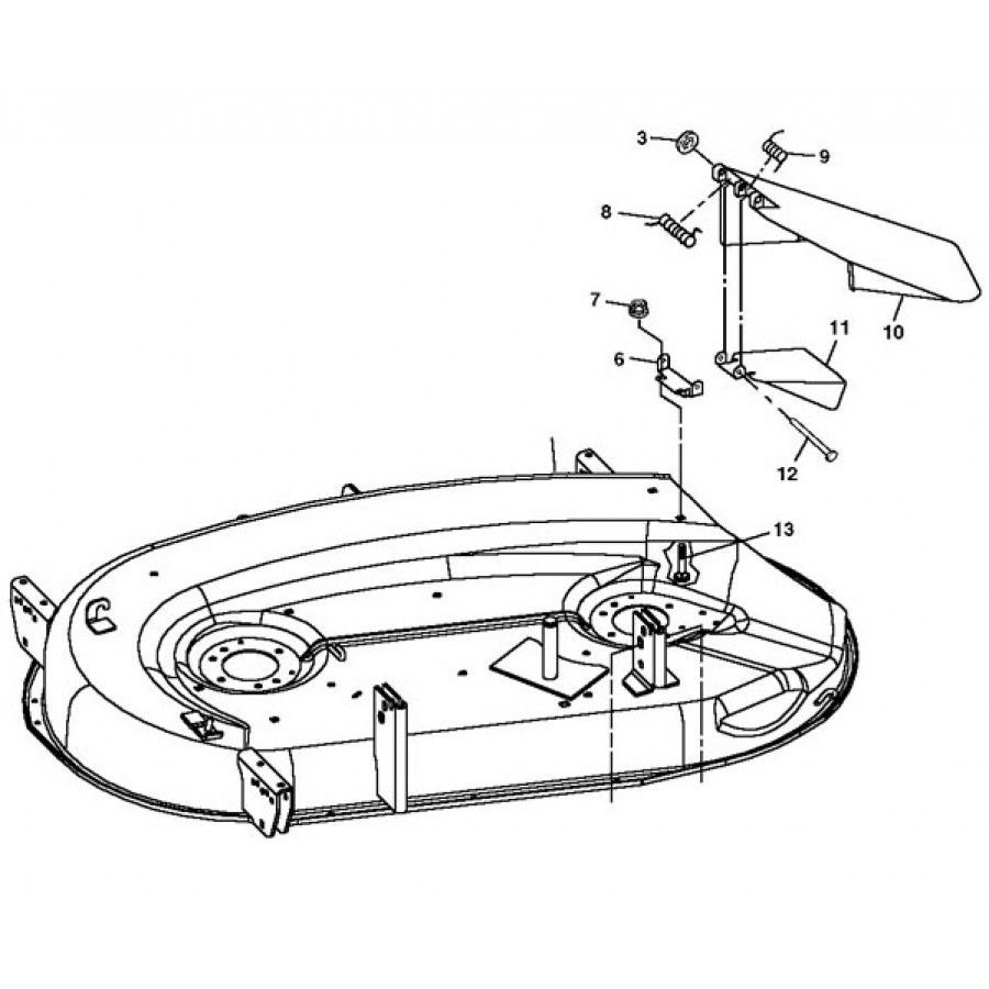 hight resolution of john deere oem 42 convertible mower deck shell fits gx335 lx255 lx266 lx277 w o aws lx279 gt225 gt235 rungreen com