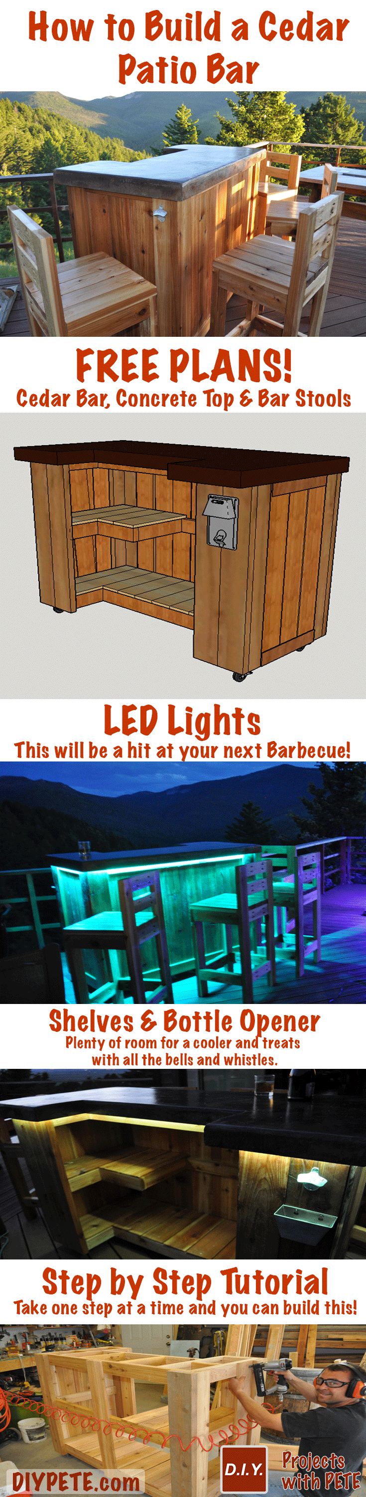 Learn how to build a Patio Bar! Free Plans, Video Tutorial ...