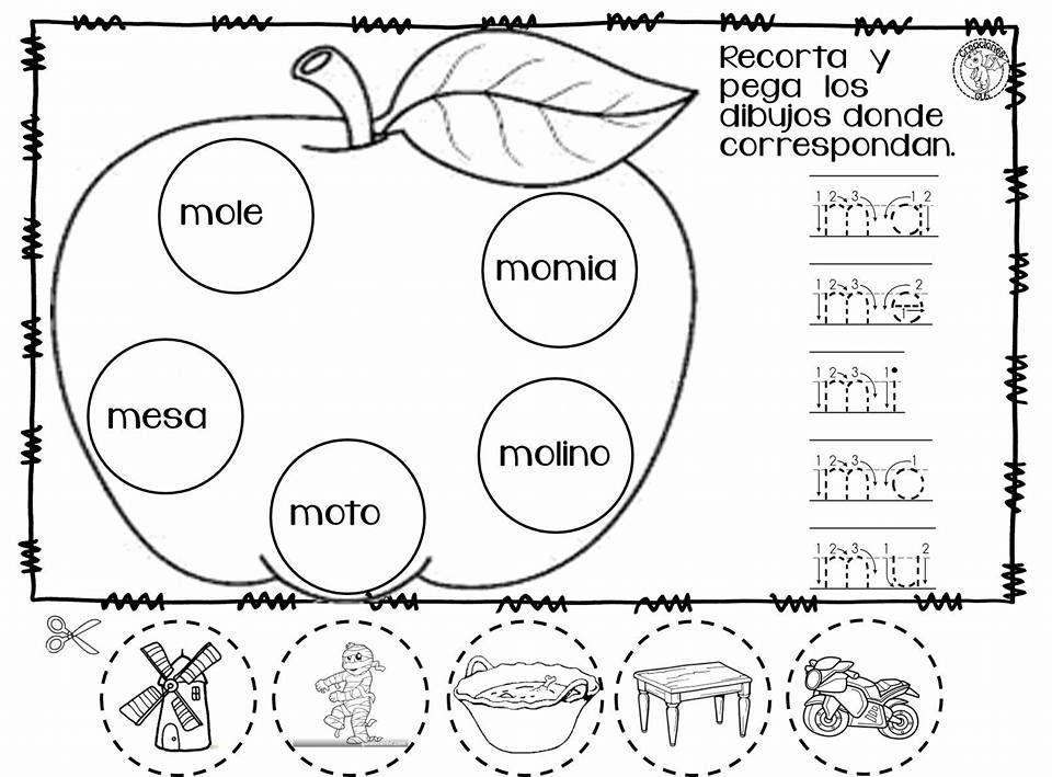 Fabuloso material de trabajo y de repaso para las letras m, s y l ...