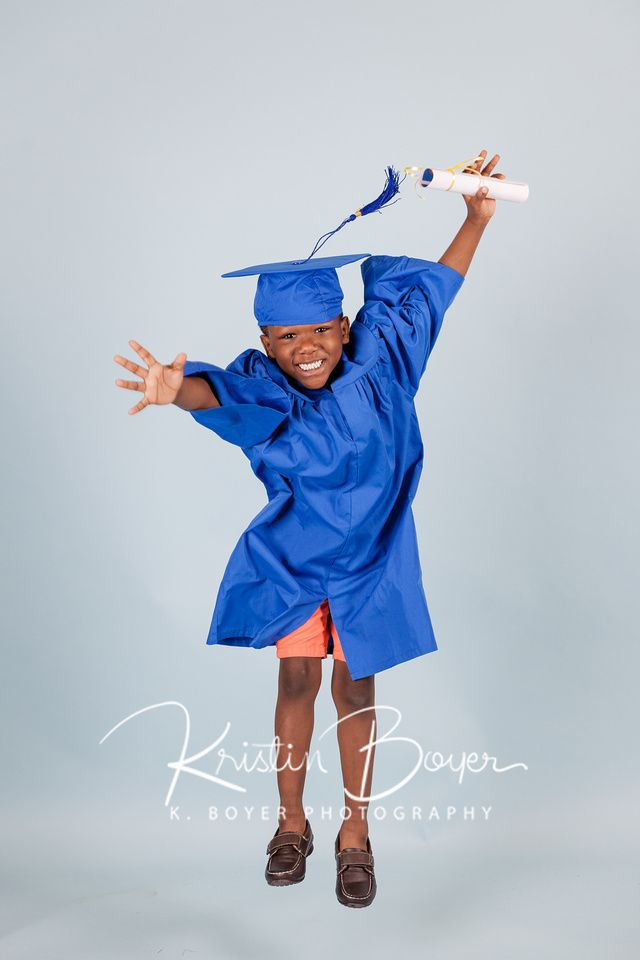 Cap & Gown Graduation Photos, Kindergarten Graduation Portraits for ...