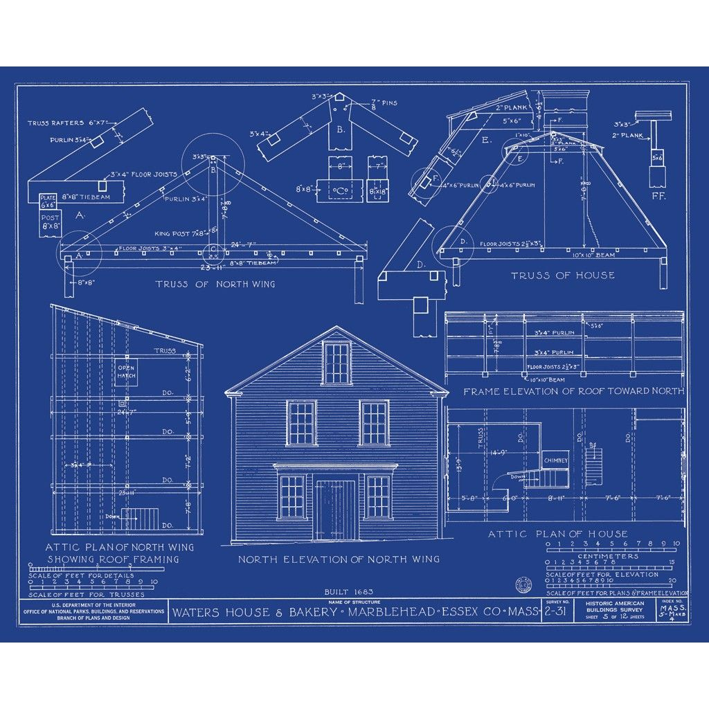 Gambrel Roof House Plans Architecture Art Blueprint Waters
