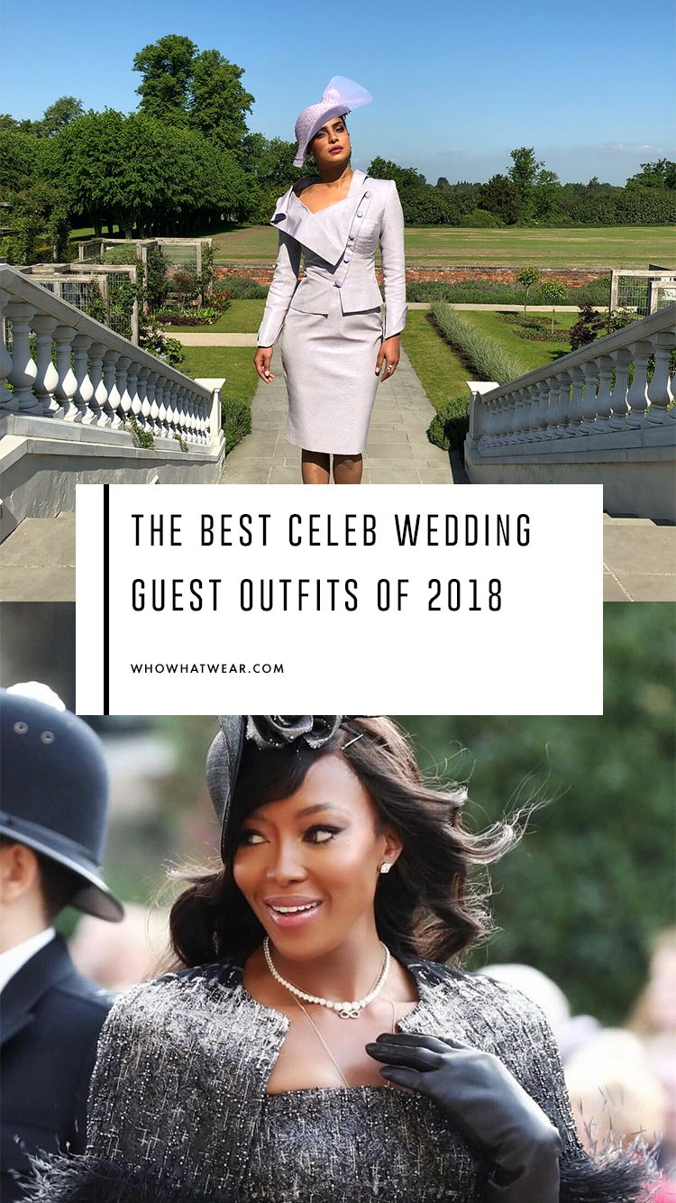 The Best Celebrity Wedding Guest Outfits Of 2018 Wedding Guest Outfit Guest Outfit Celebrity Weddings