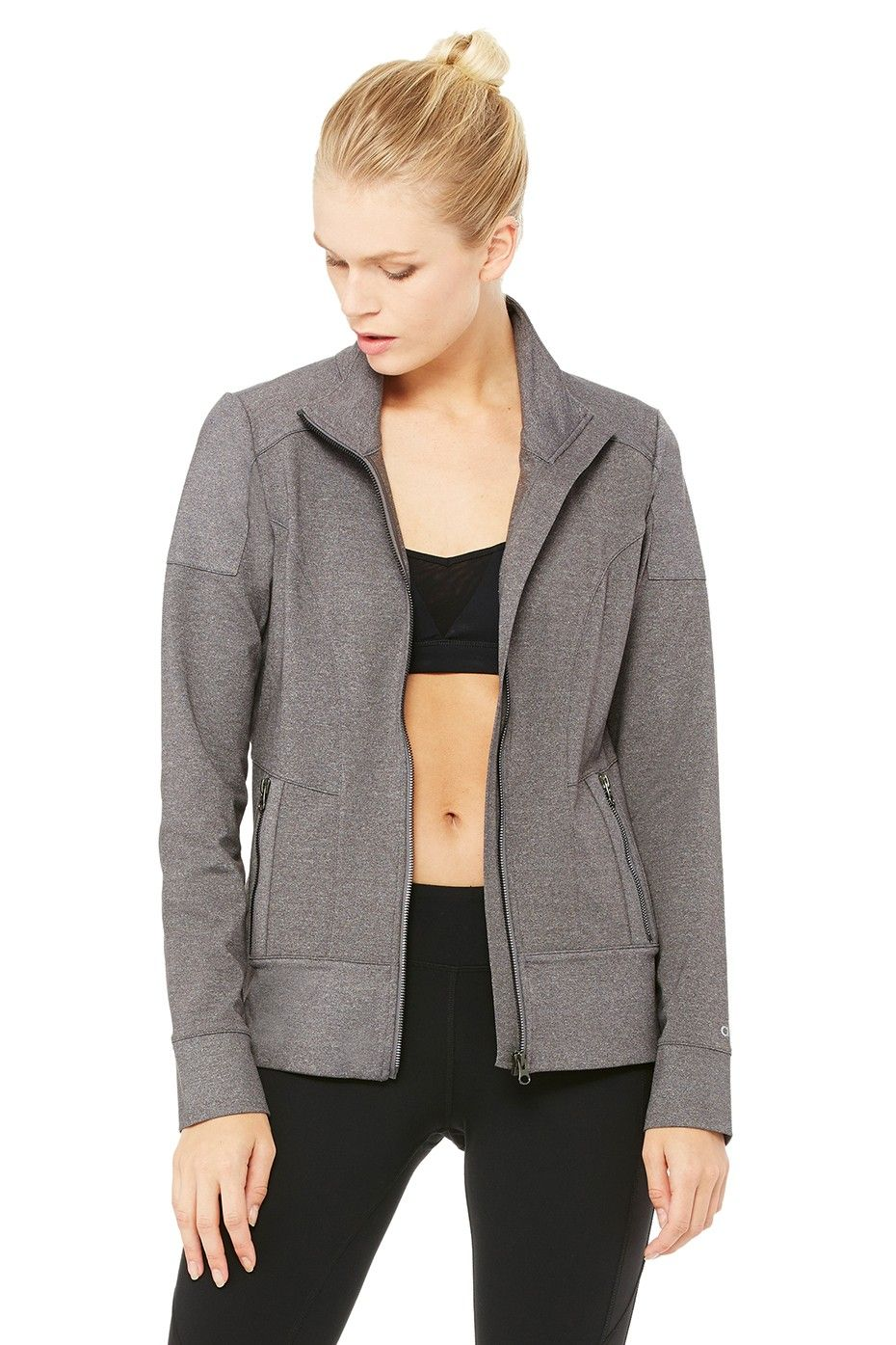 cc91bc585c Moto Jacket - Stormy Heather/Stormy Heather | Women's Coverups at ALO Yoga