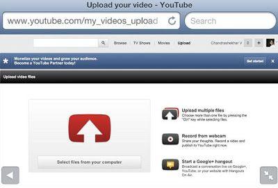 Upload Iphone Video To Youtube Via Safari Youtube Videos