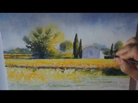 Watercolor Tutorial Ostuni Panorama By Minh Dam Youtube