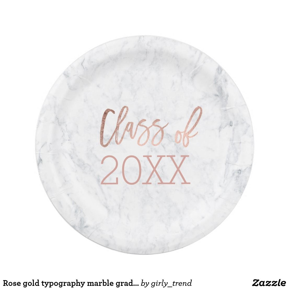 Rose gold typography marble graduation paper plate Rose gold typography marble graduation class of 20xx party  sc 1 st  Pinterest & Rose gold typography marble graduation paper plate Rose gold ...