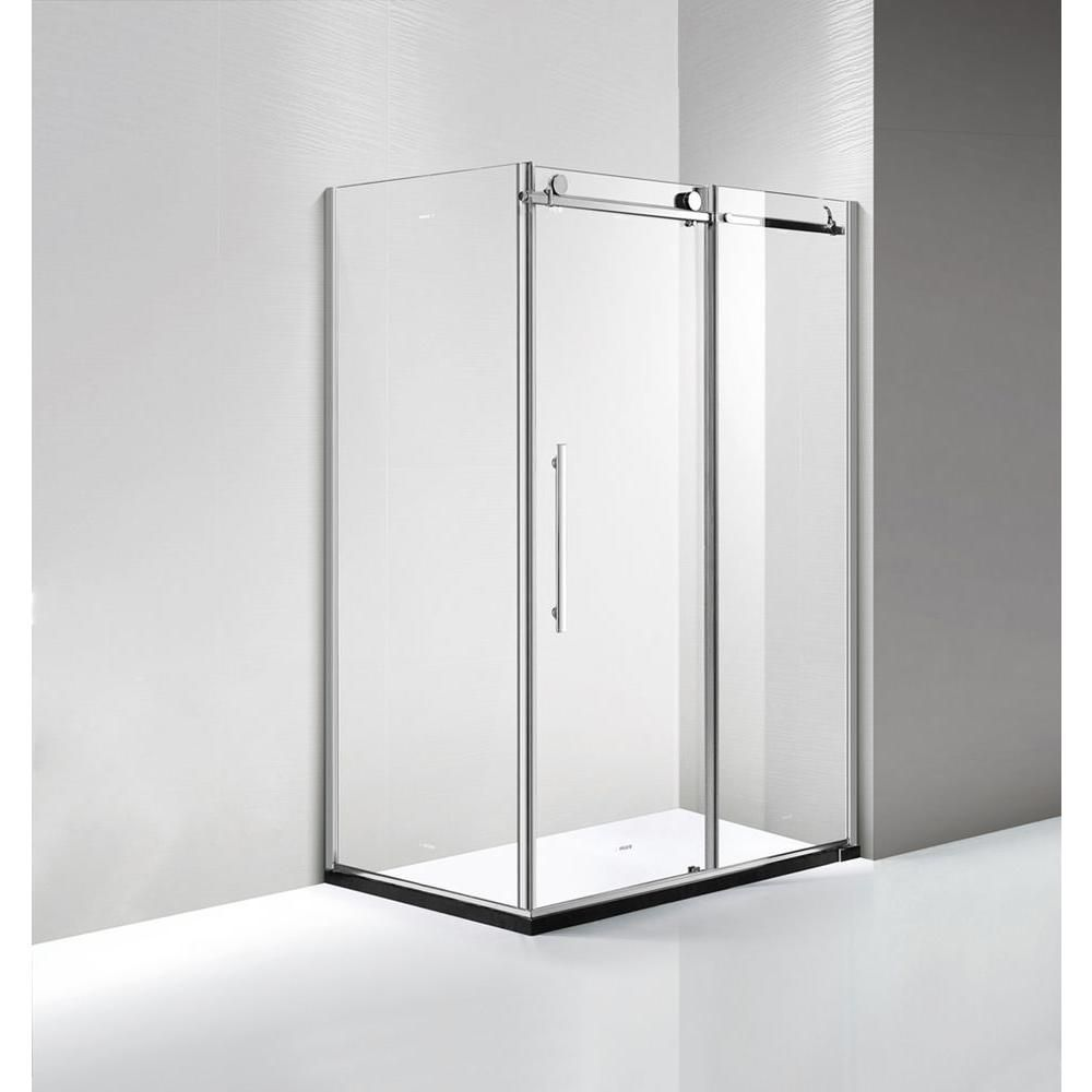 Dreamwerks 60 In X 79 In X 32 In Frameless Sliding Shower Door