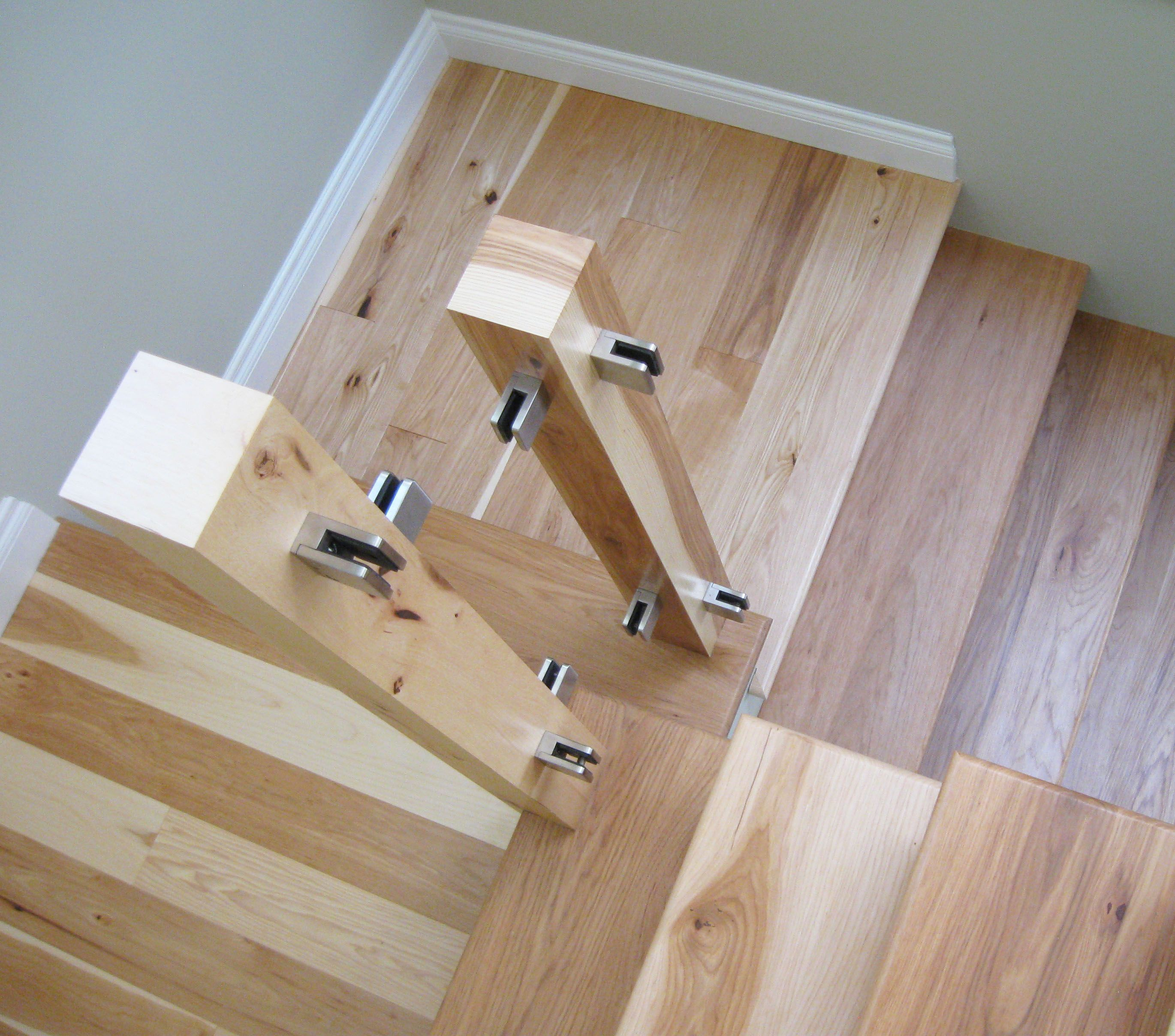 Best Hickory Stair Treads And Posts Hardwood Stair Treads Moulding And Millwork Hardwood Stairs 400 x 300