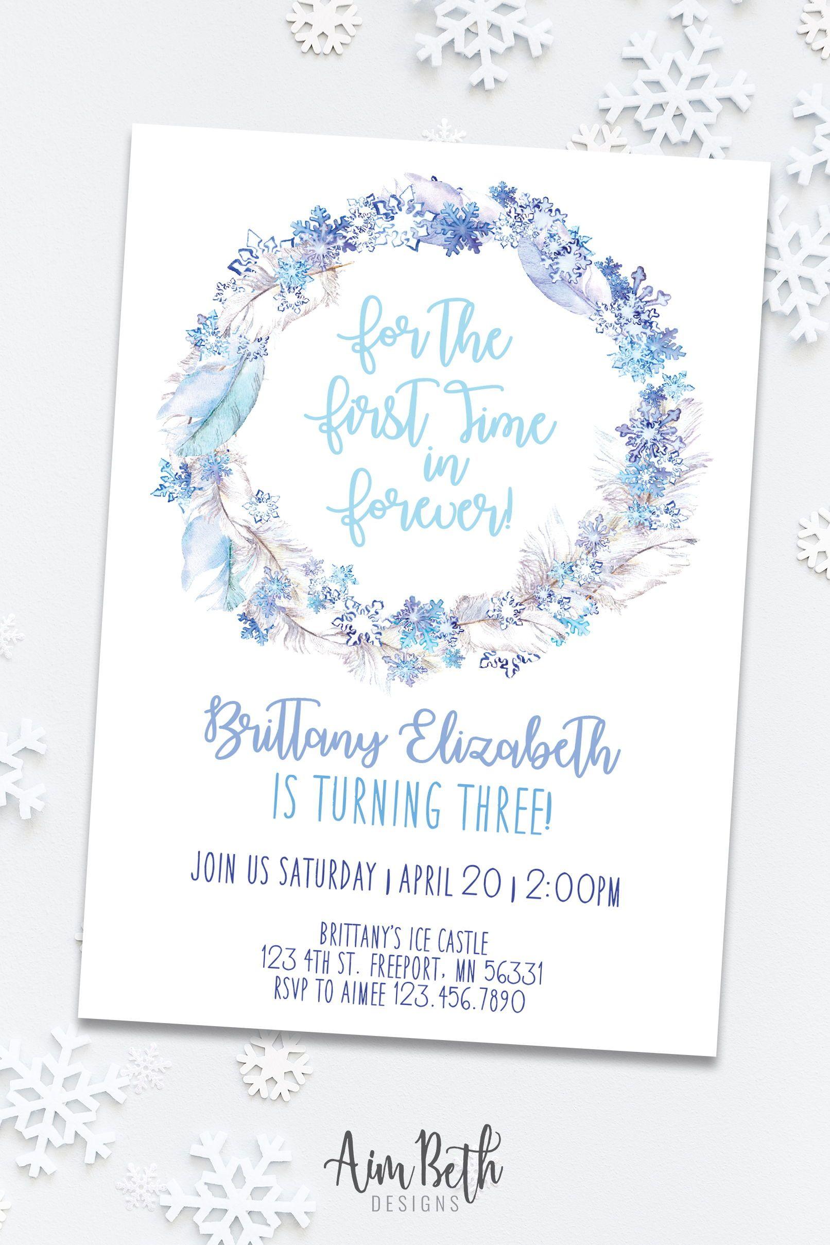 Frozen Birthday Invitation Frozen Birthday Frozen Birthday Party Frozen Invitation Instant Download Girl Birthday Editable PDF Printable