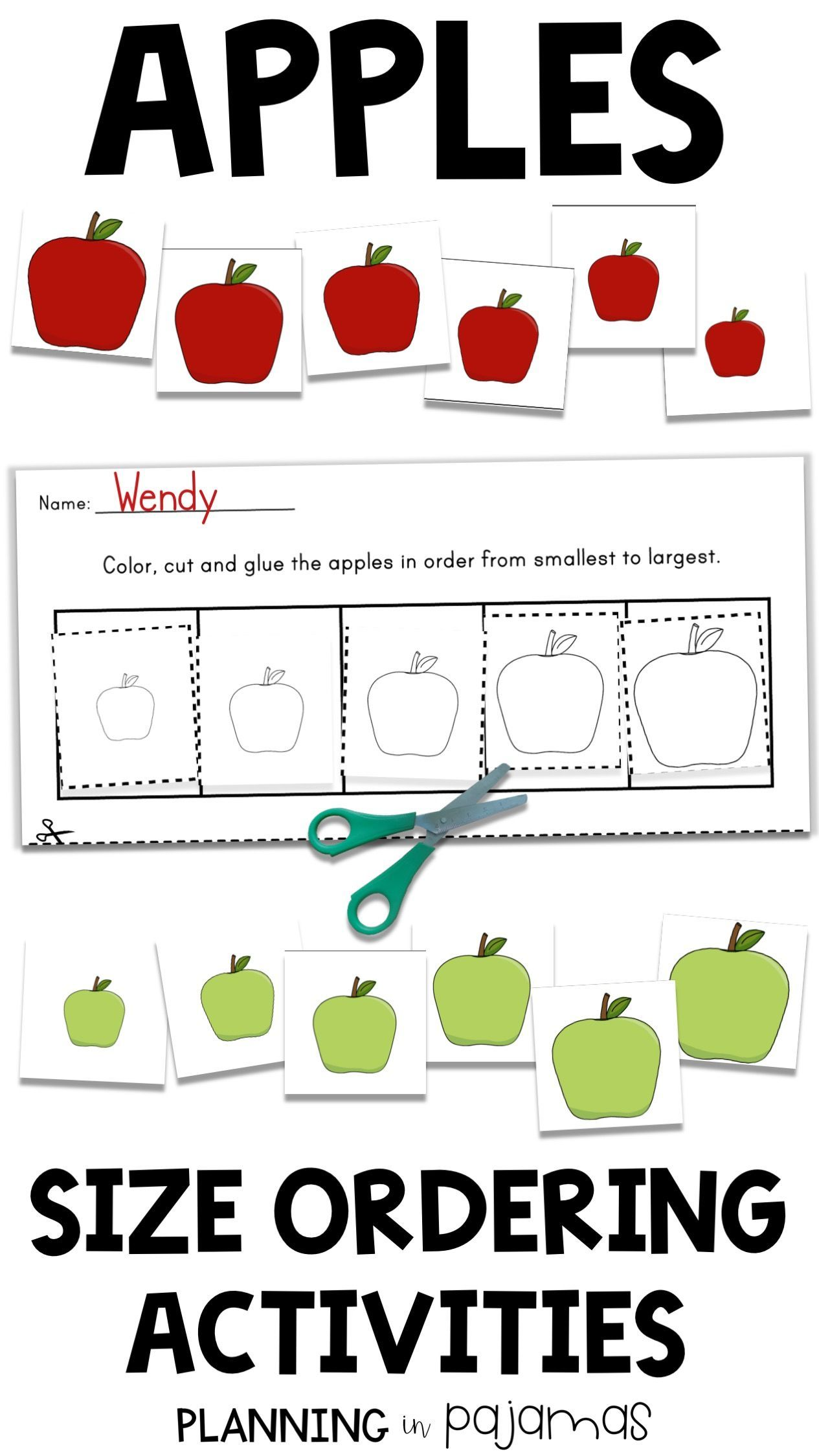 Size Ordering Activity To Include In A Fall Or Apples Theme Size Ordering Cards Kindergarten Worksheets Kindergarten Worksheets Printable Preschool Fall Math [ 2249 x 1265 Pixel ]