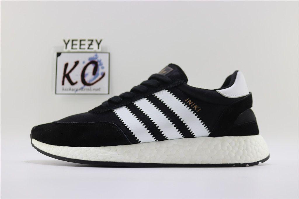 """98d8a2453bc Adidas Iniki Boost Runner """"Black White"""" BY9727 Adidas Iniki, Adidas Samba,  Adidas"""
