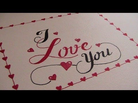 Cursive fancy letters how to write i love you I love you calligraphy