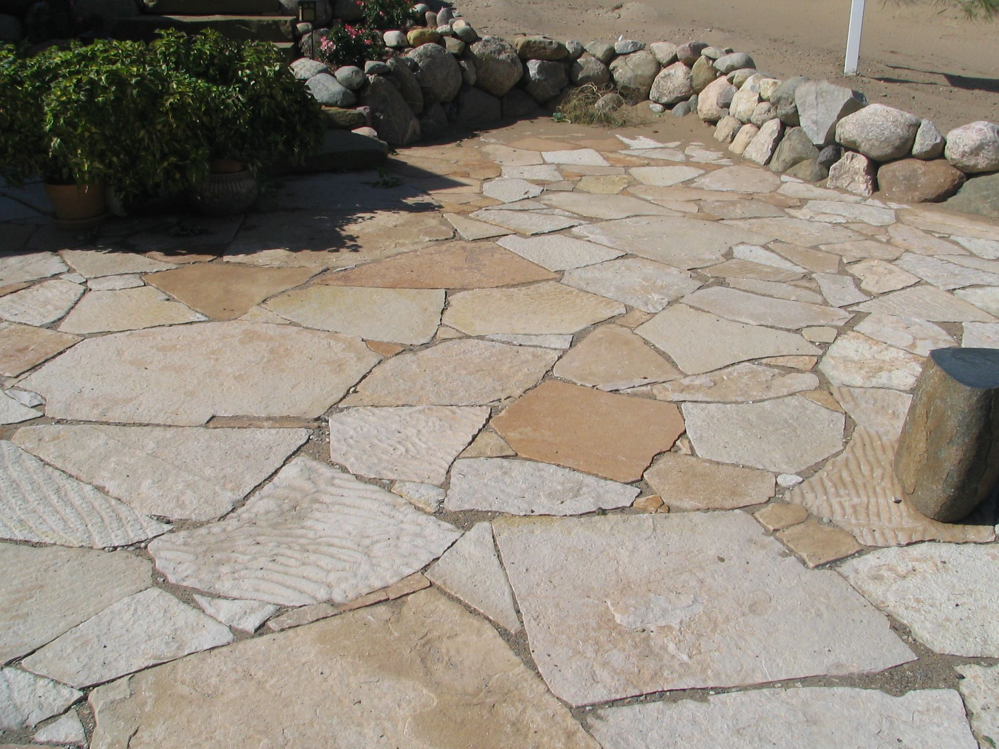 the best stone patio ideas | stone patio designs, flagstone