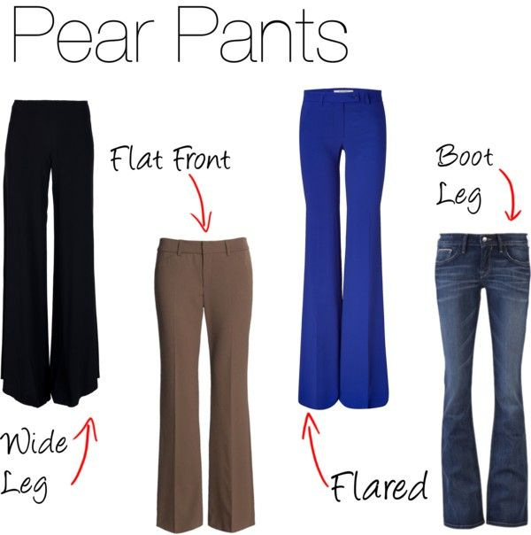 Pear Pants | Pear, Polyvore and Shapes