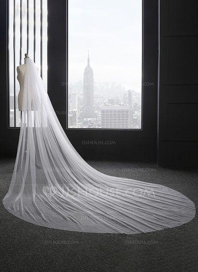 [AU$ 22.00] One-tier Cut Edge Cathedral Bridal Veils (006114027)